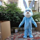 Supply Grey Blue Bunny Adult Costume Doll Dress Performance Props Dress Walking Cartoon Doll Clothing Mascot Costume