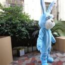 Grey Blue Bunny Adult Costume Doll Dress Performance Props Dress Walking Cartoon Doll Clothing Mascot Costume