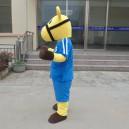 Maca Through A Blue Horse Dolls Doll Dress Costumes Adult Bear Walking Doll Clothing Mascot Costume