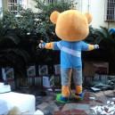 2014 Most Large Yellow Cartoon Dolls Cartoon Mascot Men Civet A Beaver Cartoon Clothing Mascot Costume