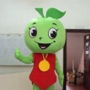 Supply Green Apple Adult Costume Doll Dress Performance Props Dress Green Apple Walking Cartoon Doll Clothing Mascot Costume