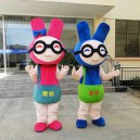 Supply Rabbit Cartoon Doll Doll Clothing Cartoon Show Clothing Walking Cartoon Mascot Dolls Mascot Costume