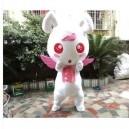 Red-eyed Cute Little Bunny Rabbits Bunny Cartoon Angel Doll Props Doll Clothing Mascot Costume