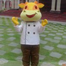 Supply Zodiac Diet Cartoon Mascot Dolls Iron Chef Cook Beef Soaring Gas Cartoon Clothing Mascot Costume