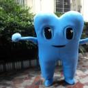 Adult Teeth Costume Dolls Dress Performance Props Dress Costumes Walking Cartoon Dolls Teeth Mascot Costume