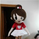 Supply Cute Girl Doll Costume Doll Dress Performance Props Dress Girl Walking Cartoon Doll Clothing Mascot Costume