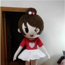 Cute Girl Doll Costume Doll Dress Performance Props Dress Girl Walking Cartoon Doll Clothing Mascot Costume