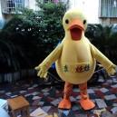 Duck Cartoon Dolls Plush Toys Cartoon Doll Clothing Cartoon Dolls Walking Clothing Performance Props Big Yellow Duck Mascot Costume