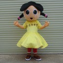 Supply The Little Girl Dolls Walking Cartoon Doll Clothing Adult Mascot Costume Props Performance