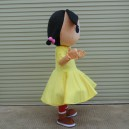 The Little Girl Dolls Walking Cartoon Doll Clothing Adult Mascot Costume Props Performance