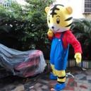 Tiger People Walking Cartoon Cartoon Dolls Clothing Performance Props Dress Plush Toy Doll Clothes Image Speak Mascot Costume