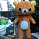Supply Easily Bear Cartoon Dolls Doll Clothes Lazy Bear Rilakkuma Cartoon Show Clothing Wholesale Professional Mascot Costume
