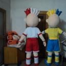 Professional Plush Dolls Walking Cartoon Doll Clothing Performance Clothing Stage Props Footballer Mascot Costume