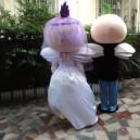 Wedding Gifts Elf Adult Costume Angel Doll Dress Performance Props Dress Walking Cartoon Elves Mascot Costume