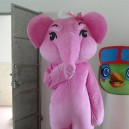 Supply Elephant Cartoon Doll Clothing Businesses Opening Promotional Props Dolls Walking Clothing Pink Elephant Mascot Costume
