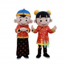 Supply Lucky Boy Male and Female Cartoon Child Colorful Decoration Doll Clothing Sets New Mascot Head Holiday Mascot Costume