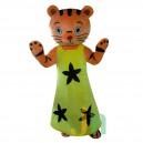 Supply Cartoon Yellow Skirt Tiger Doll Cartoon Walking Doll Clothing Ferrule Yellow Skirt Tiger Mascot Costume