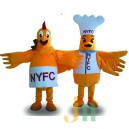 Cartoon Chef Chicken Walking Doll Doll Cartoon Clothing Sets Head Chef Chicken Mascot Costume