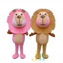 Supply Cartoon Couple Walking Doll Clothing Doll Cartoon Lion Hedging Lion Lovers Mascot Costume