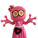 Supply Cartoon Doll Clothing Walking Hedging Mascot Costume Decorative Pink Girl Even Animation Activities