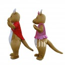 Supply Cartoon Kangaroo Couple Walking Doll Doll Cartoon Clothing Hedging Kangaroo Couple Mascot Costume