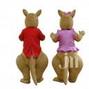 Cartoon Kangaroo Couple Walking Doll Doll Cartoon Clothing Hedging Kangaroo Couple Mascot Costume