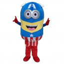 Supply Mascot Cartoon Despicable Me Despicable Me Despicable Me Captain America Costume Walking Doll Mascot Costume