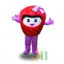 Supply Cartoon Strawberry Woman Walking Doll Cartoon Clothing Sets Even Strawberry Female Head Mascot Costume