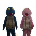 Cartoon Doll Clothing Couple Walking Hedging Plaid Clothing Decoration Dragon Anime Events Mascot Costume