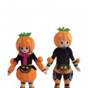 Cartoon Halloween Pumpkin Men and Women Walking Doll Cartoon Clothing Doll Hedging Mascot Costume