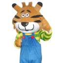 Cartoon Christmas Tiger Doll Cartoon Walking Doll Clothing Hedging Christmas Tiger Mascot Costume