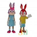 Lucky Rabbit Cartoon Dolls Cartoon Clothing For Men and Women Walking Doll Hedging Mascot Costume