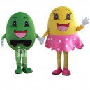 Supply Male and Female Dolls Cartoon Fruit Cartoon Walking Doll Clothing For Men and Women Hedging Fruit Mascot Costume