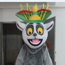 Supply Cartoon Clothing Cartoon Dolls Clothing Film and Television Animation Character Madagascar Lemur Mascot Costume