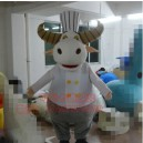 Supply Cartoon Clothing Performance Clothing Doll Clothing Cartoon Show Clothing Anime Clothing Chef Cow Mascot Costume