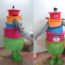 Supply Ruili Shi Kang Mascot Costume Cartoon Mascot Costume Clothing Catering Utensils