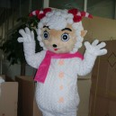 Supply Cartoon Costumes Walking Cartoon Doll Clothing Cartoon Costumes Beautiful Sheep Mascot Costume