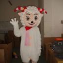 Supply Cartoon Costumes Walking Cartoon Doll Cartoon Doll Clothing Cartoon Costumes Beautiful Sheep Mascot Costume