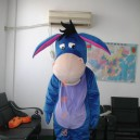 Supply Cartoon Costumes Walking Cartoon Doll Clothing Doll Clothing Blue and Gray Donkey Walking Mascot Costume