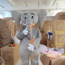 Supply Manufacturers Sold Clothing Walking Cartoon Doll Clothing Cartoon Children Cartoon Costumes Large Gray Elephant Mascot Costume