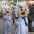 Supply Cartoon Costumes Walking Cartoon Doll Clothing Pleasant Us Frankie Wolf Mascot Costume