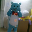 Supply Walking Cartoon Doll Clothing Cartoon Show Clothing Cartoon Children Cartoon Clothing Blue Bear Mascot Costume