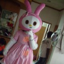 Walking Cartoon Doll Clothing Cartoon Show Clothing Cartoon Children Cartoon Clothing Red Female Rabbit Mascot Costume