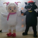 Supply Cartoon Costumes Walking Cartoon Doll Clothing Cartoon Costumes Us Frankie Black Taro Mascot Costume