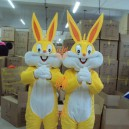 Supply Cartoon Clothing Cartoon Characters Clothing Cartoon Doll Clothing Cartoon Clothing Gold Rabbit Mascot Costume