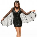 Supply European and American Halloween Mini Black Dress Sexy Moonlight Vampire Bat Stage Costume Halloween Costume