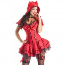 Supply Fashionable Perfect Halloween Party Stage Performing Evil Devil Red Dress Halloween Costume