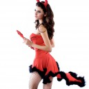 Halloween Europe and The United States Halloween Wrapped Chest Swallowtail Red Devil Demon Magic Clothing Halloween Costume