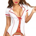 Halloween Night Shift Nurse Sexy Bedroom Suit Three - Piece Suit Halloween Costume