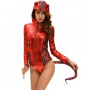 Supply Halloween Role - Playing Devil Evil Horn Hooded Piece Pants Stage Equipment Halloween Costume